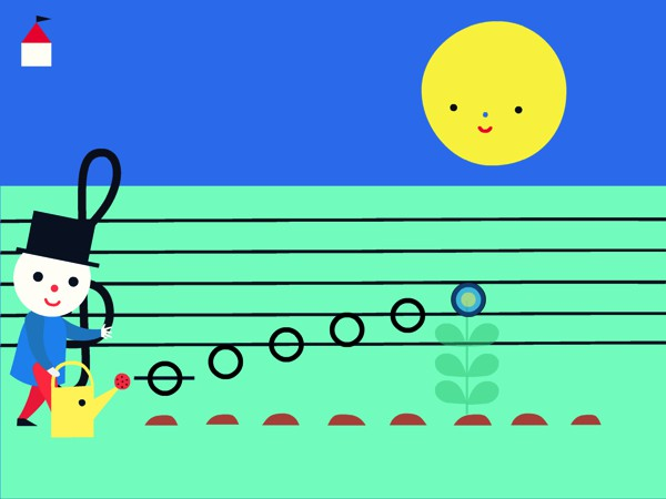 The activities in the app are designed to introduce kids to the fundamentals of music, such as notes and instruments