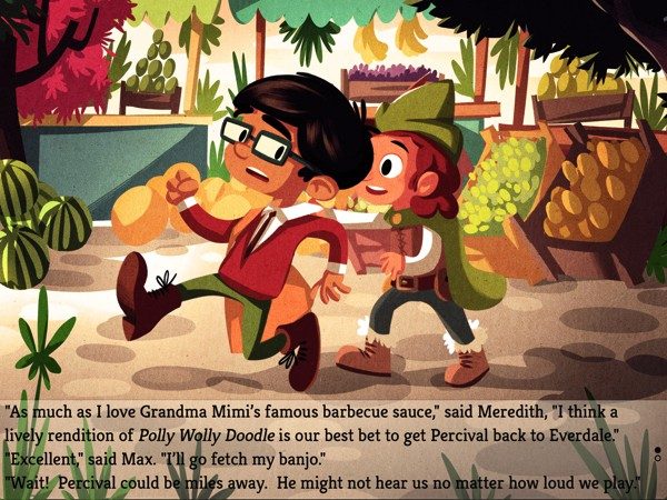 The story features two characters with different personalities who are always ready to help each other