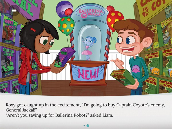 Roxy and the Ballerina Robot teaches kids how to save money