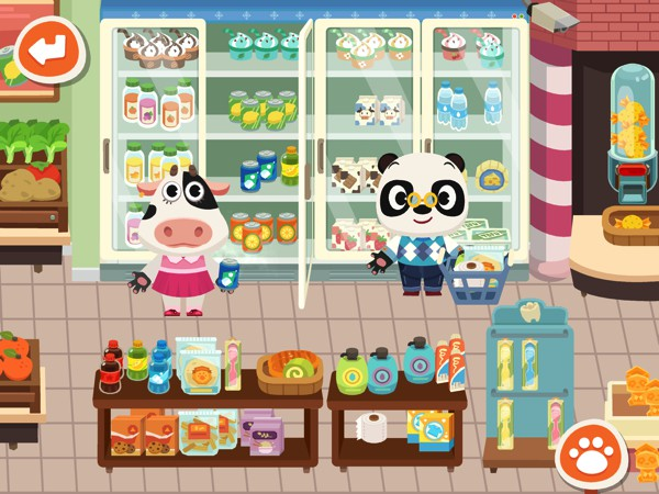In Dr. Panda Town, kids can explore life in a colorful town