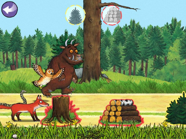Play with Gruffalo and the forest animals in this beautiful app