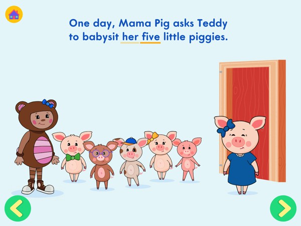 The interactive books include narration and text highlighting to help early readers