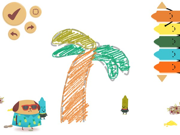 Kids can explore multiple worlds, each with a unique theme, and draw various objects related to that world