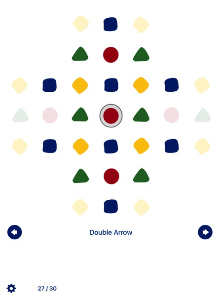 Pegs by White Pixels is a digital adaptation of the classic Peg solitaire game