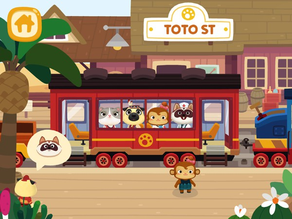 Dr. Panda Train takes kids on a virtual train ride through beautiful landscapes