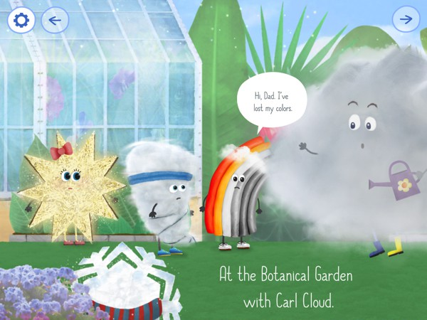 Help Rudi the Rainbow find his lost colors in the storybook Rudi Rainbow