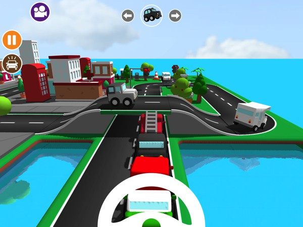 Jump into the driver's seat and drive around the town you built