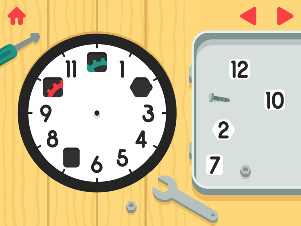 Kids assemble their own clock before learning to tell the time