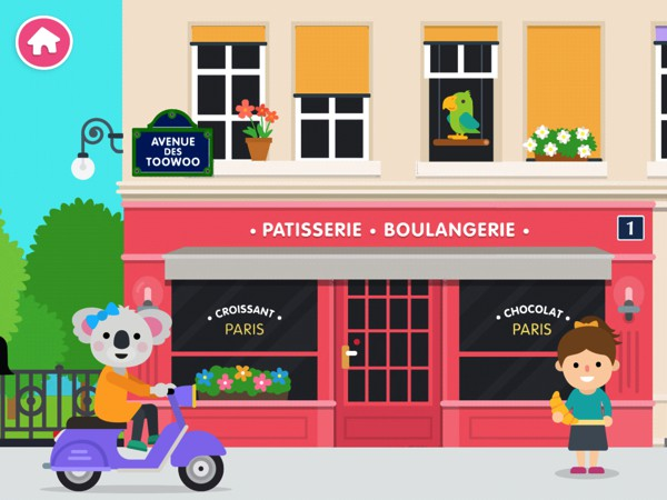 Explore Paris in this open-ended app from Toowoo
