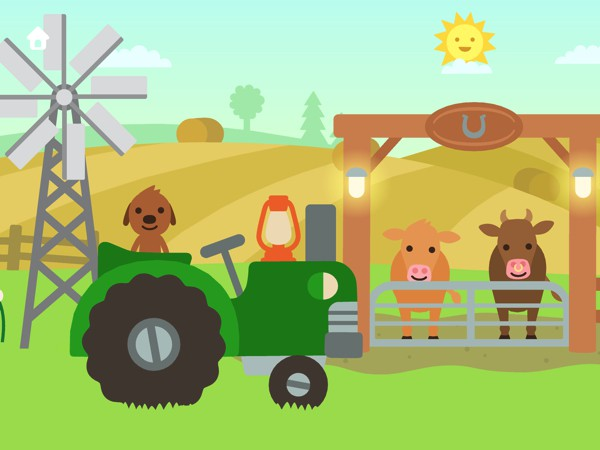 Load up the tractor with various items and move them from place to place