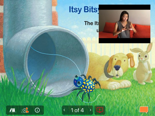 The app has a handful of useful features, such as videos demonstrating action rhymes and audio clips for nature sounds