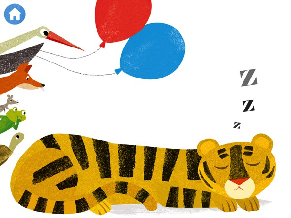 Don't Wake Up Tiger is a charming app that gets kids to help move the story forward