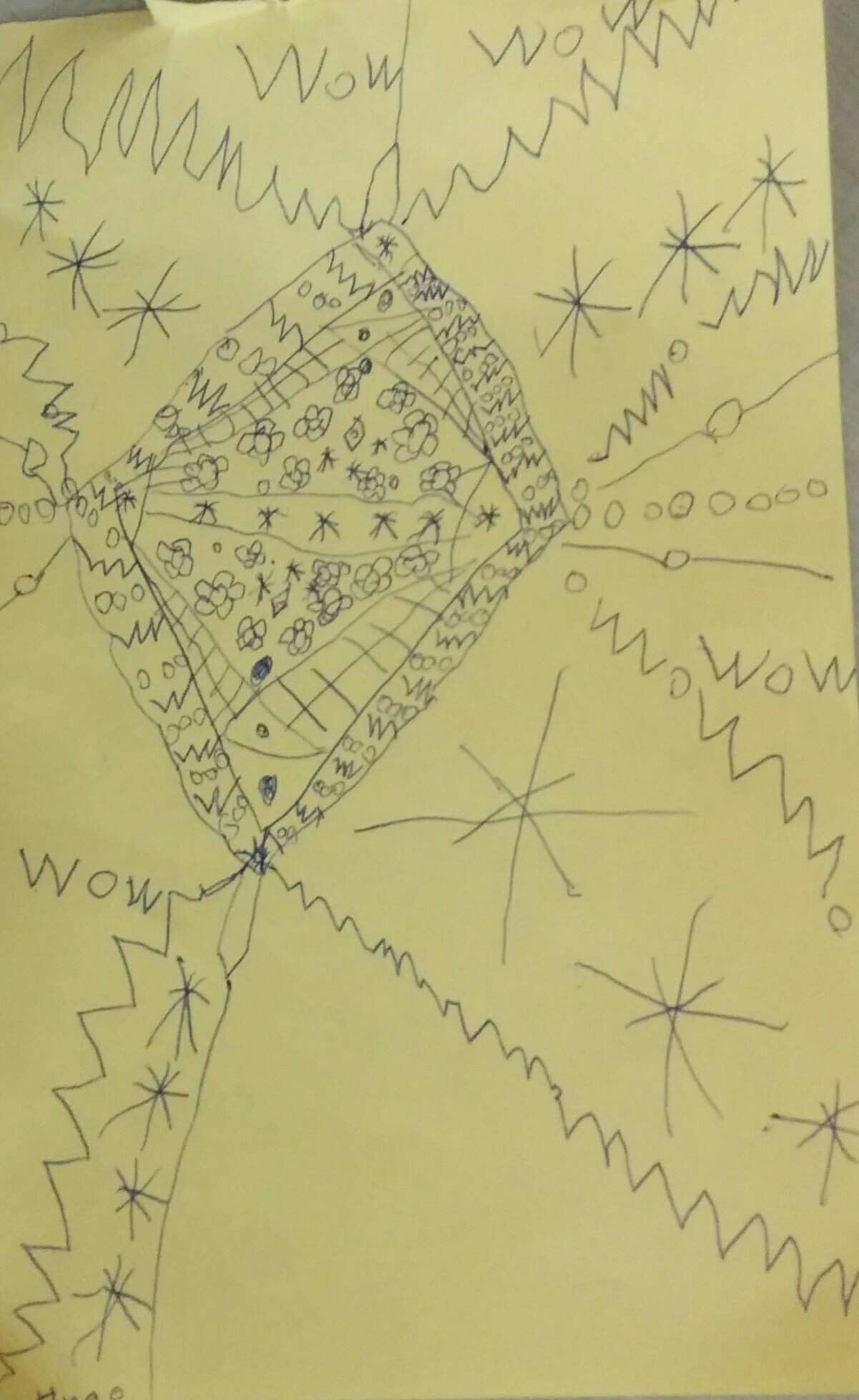 Hugo's Mandala picture, age 6.
