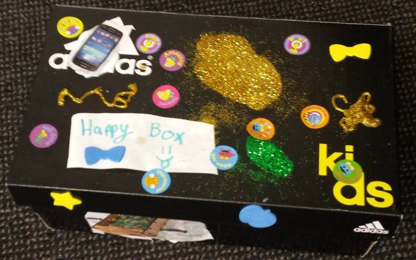 Mitchell's, 'Happy box' creation, age 9.