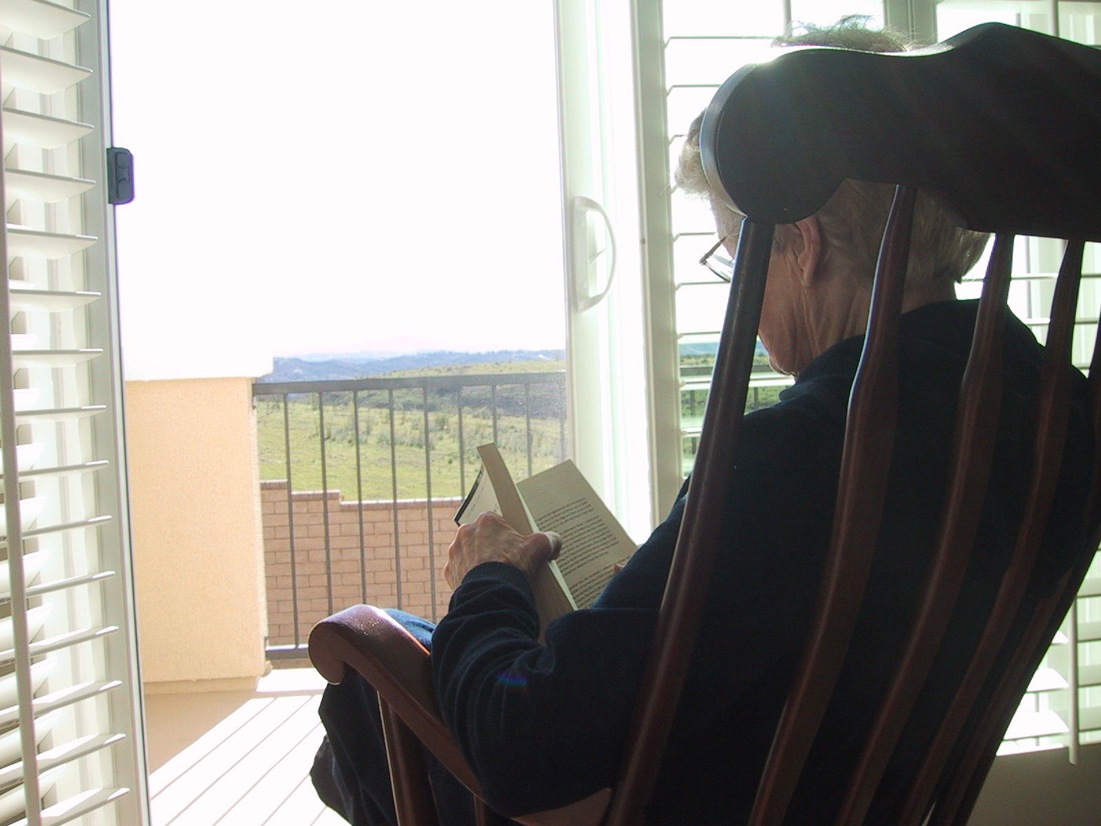 My mom reading, 2007