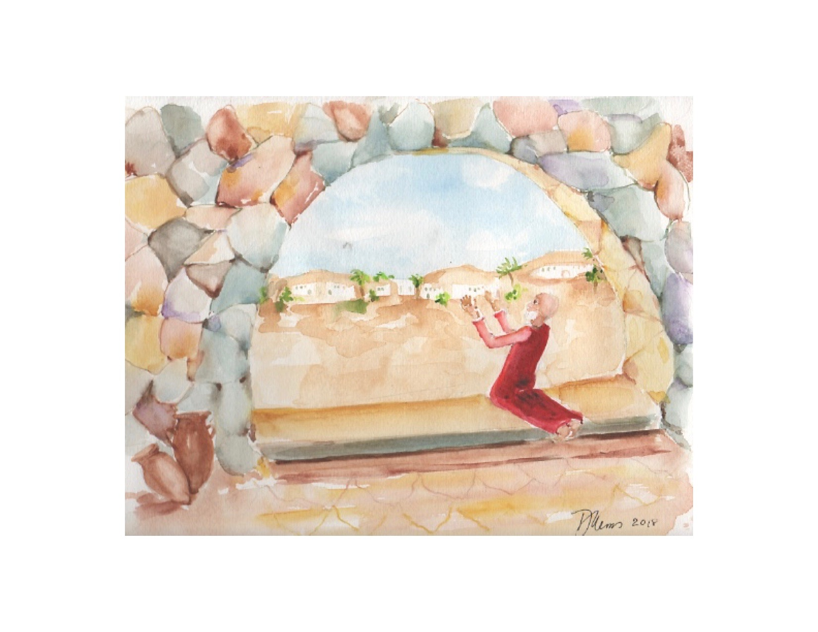 Daniel Praying Toward Jerusalem