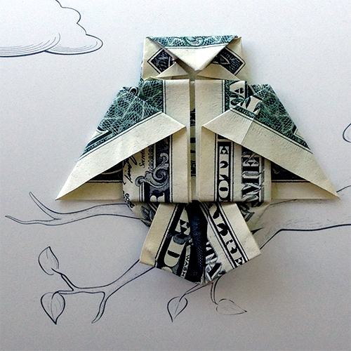kids origami instructions easy: dollar bill origami owl | 500x500