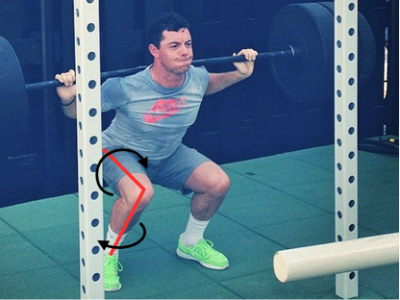 Rory Squatting 315lbs poorly.