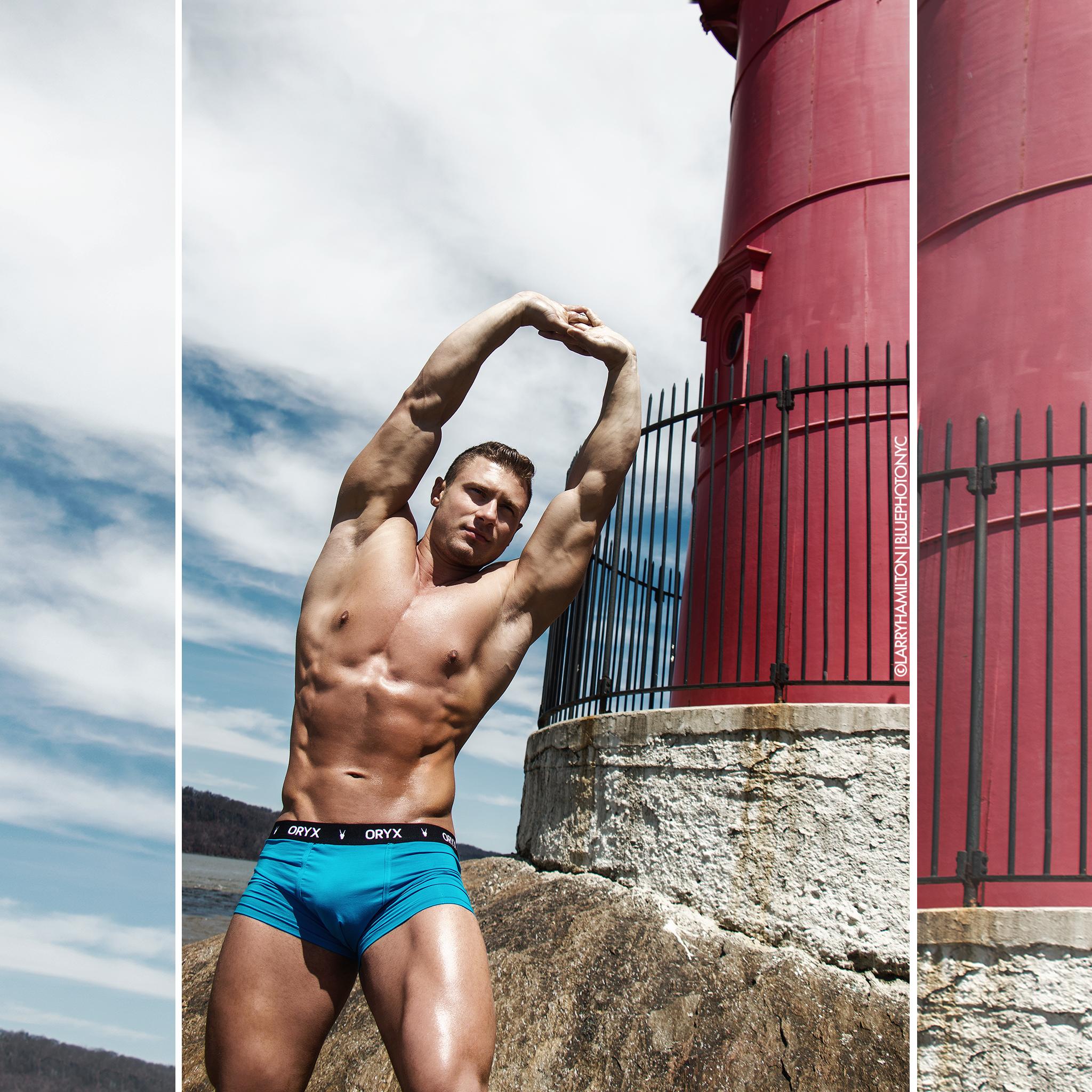 Sergii Kokariev in the blue Sport Trunk by BLUE Photography