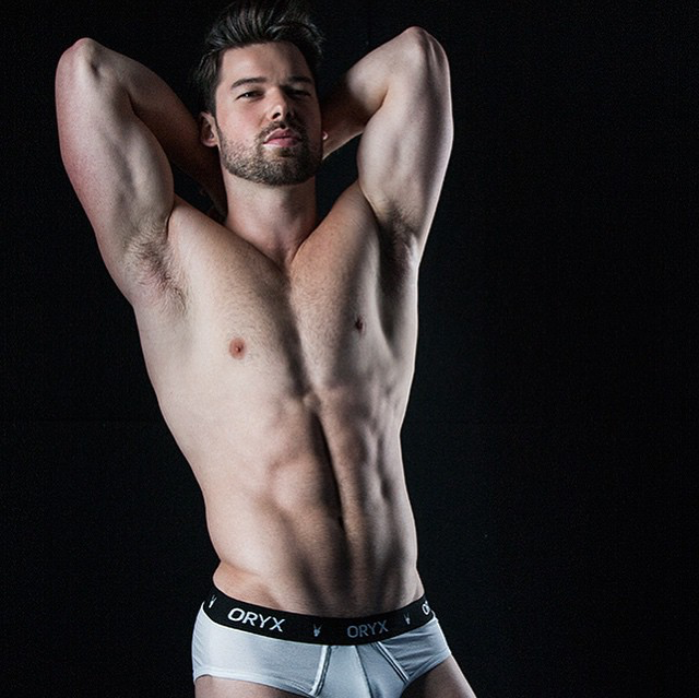Matthew Hartwig in the Oryx Basic Brief by photographer Rick Day
