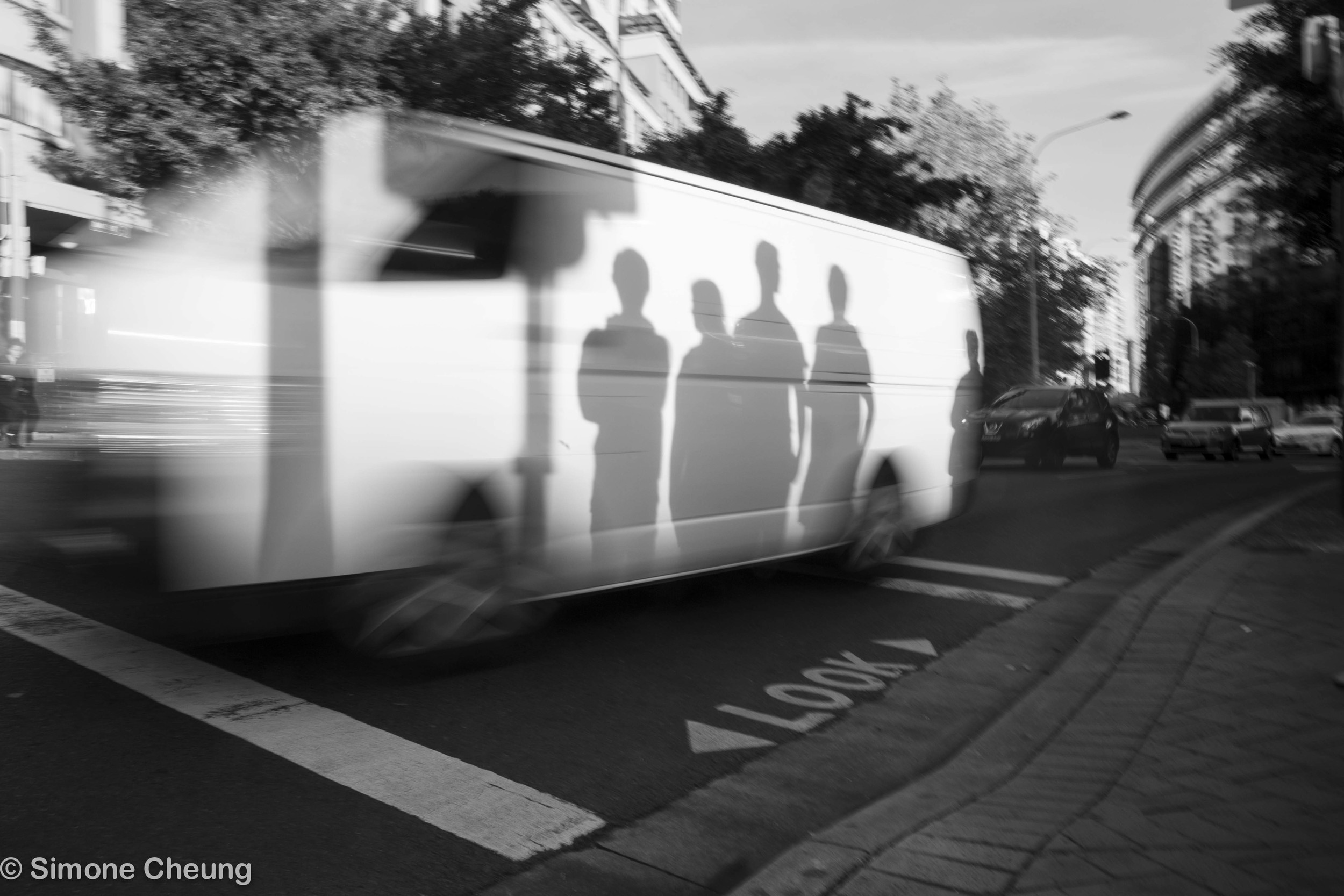 Inspired byHughes Léglise-Bataille of people waiting at a crossing