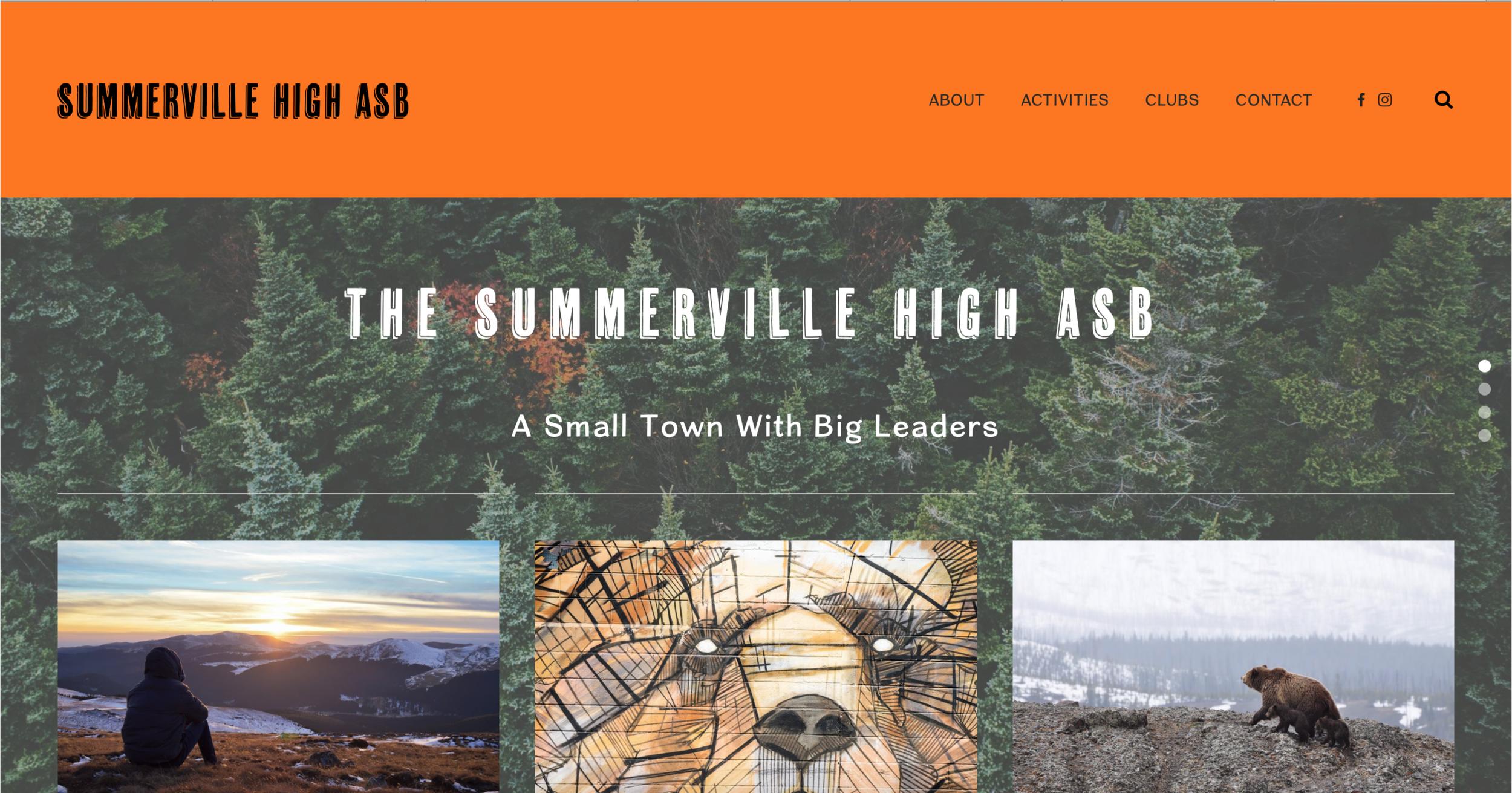 Summerville High ASB - Organization WebsiteClick to View