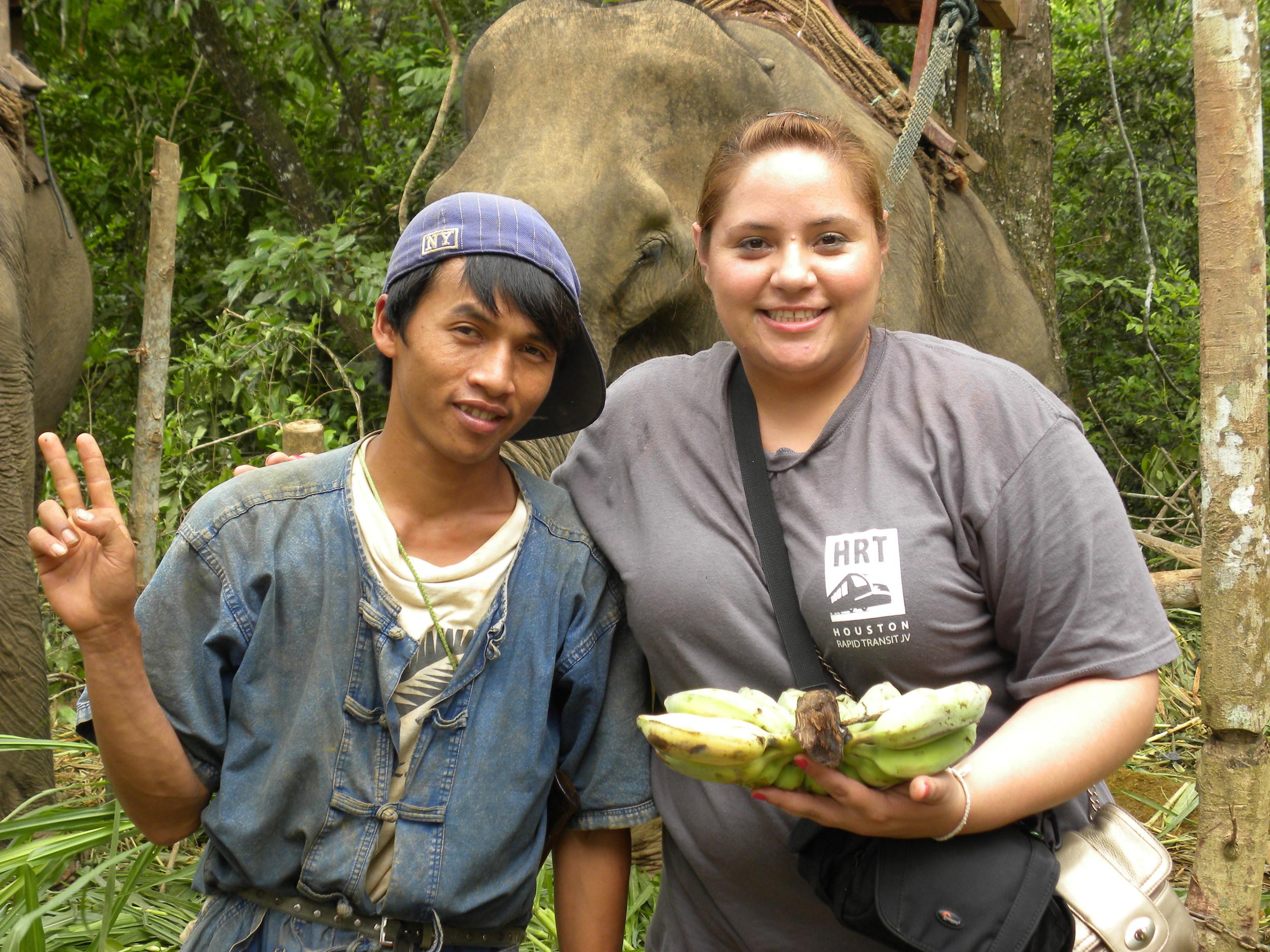 Ana inLuang Prabang, Laos after an elephant ride