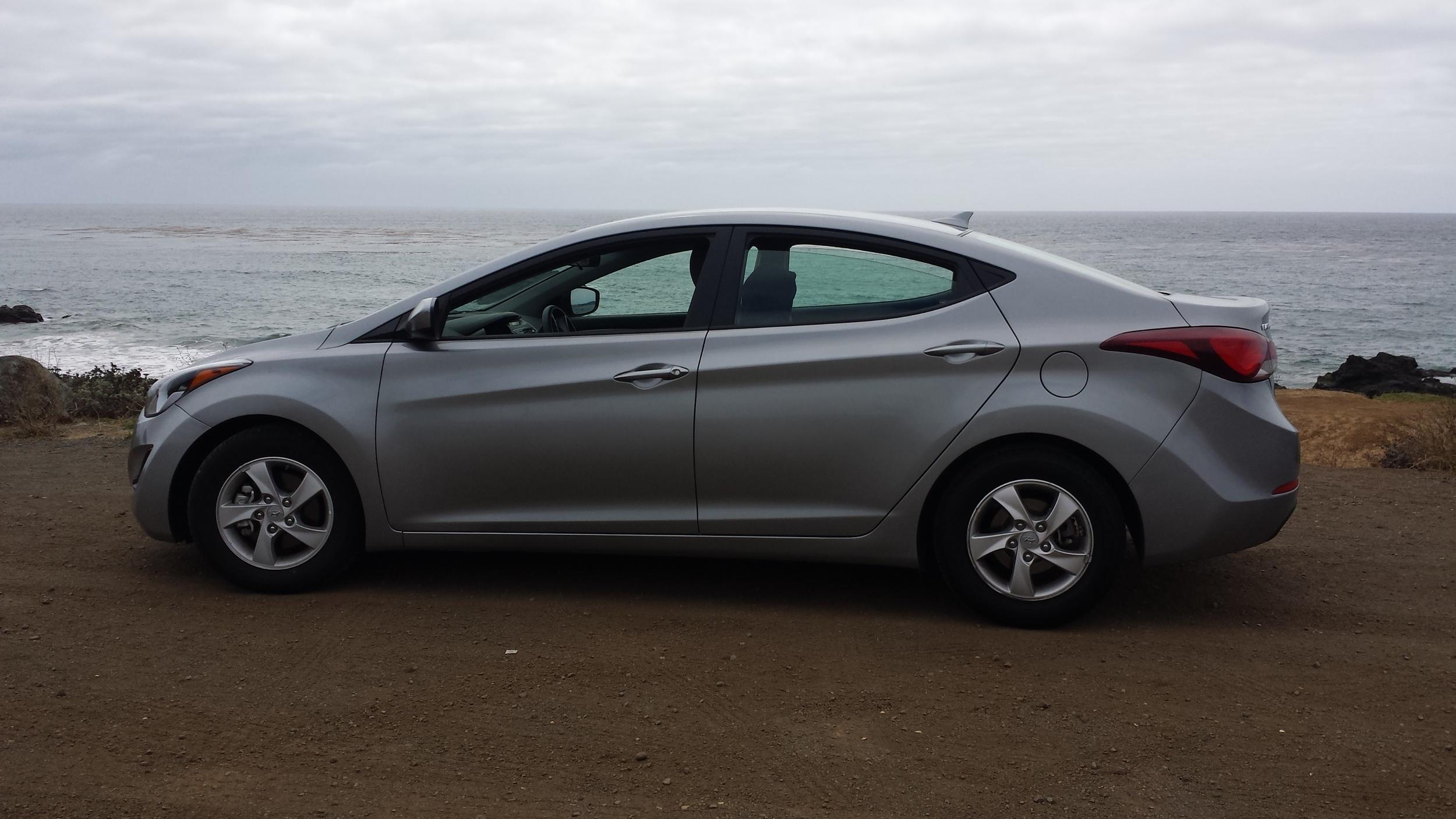 Goodbye to my sweet ride and fantastic gas mileage. Hyundai Elantra