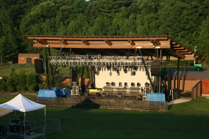 Full production for an outdoor concert