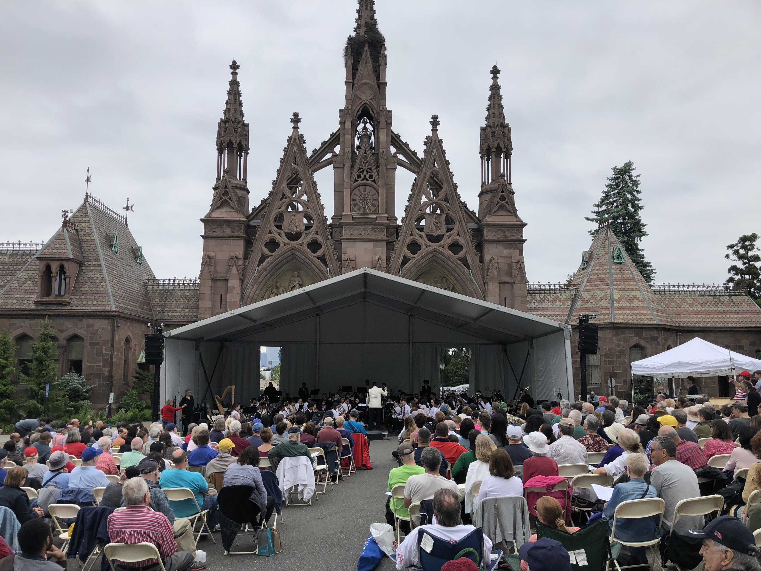 Audio for outdoor orchestral concert