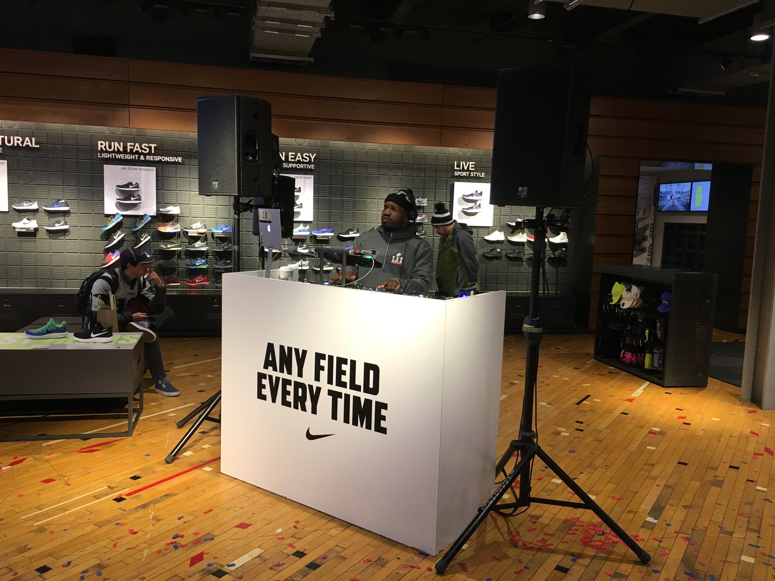 Audio and backline for a store activation