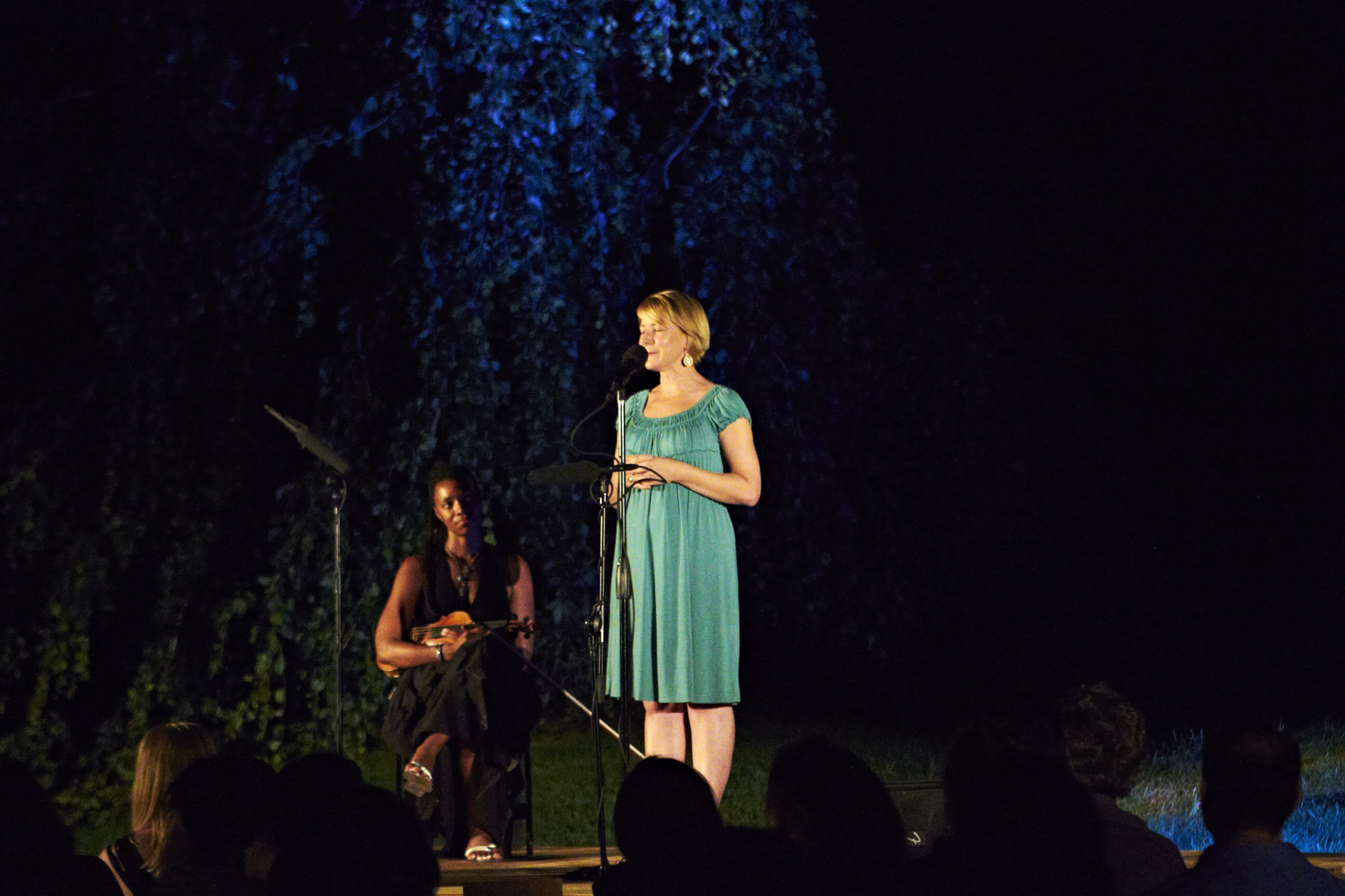Lighting and audio for an outdoor storytelling event