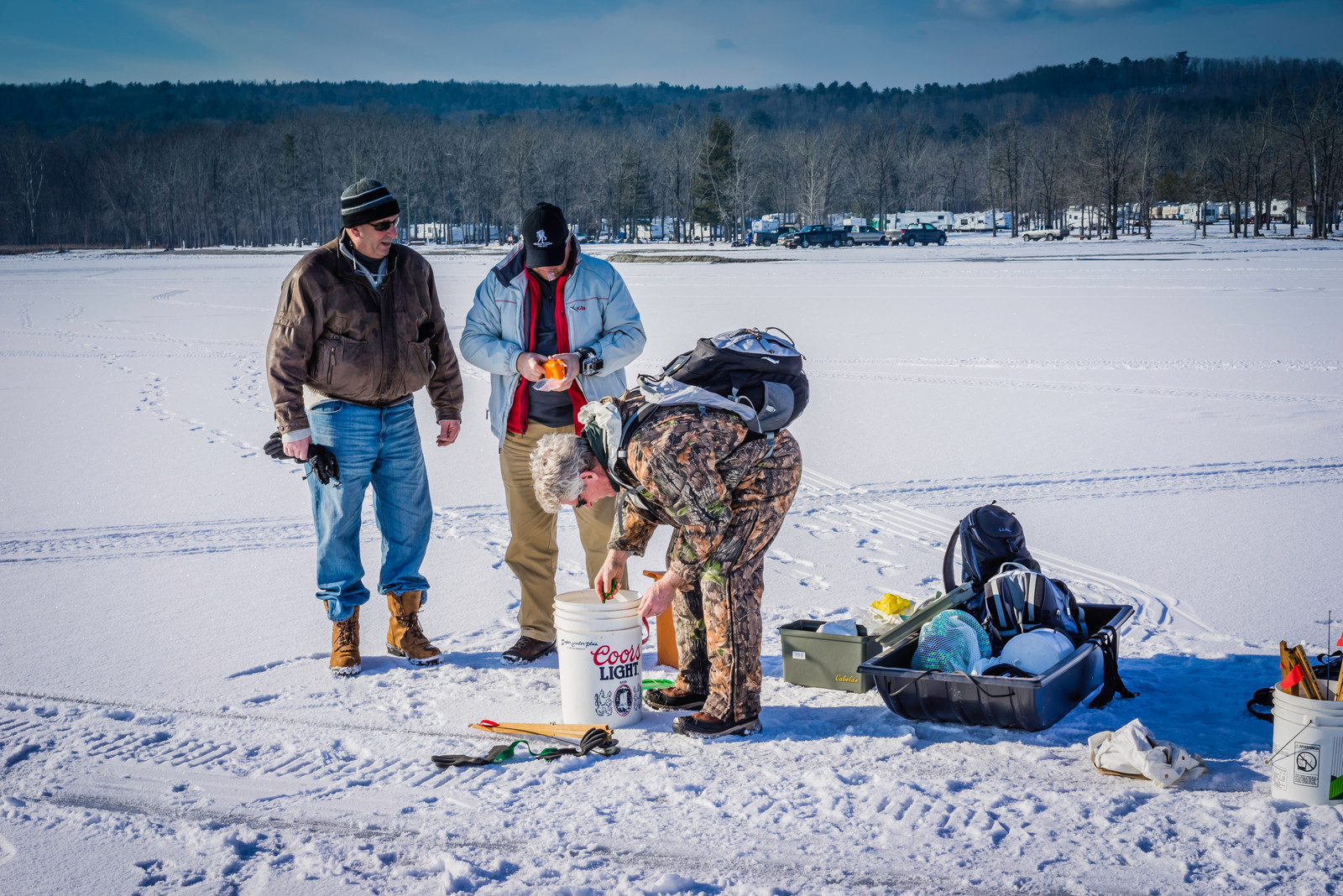 Ice Fishing | Lake Champlain | Jan 2014