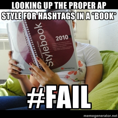 AP Style for Hashtags