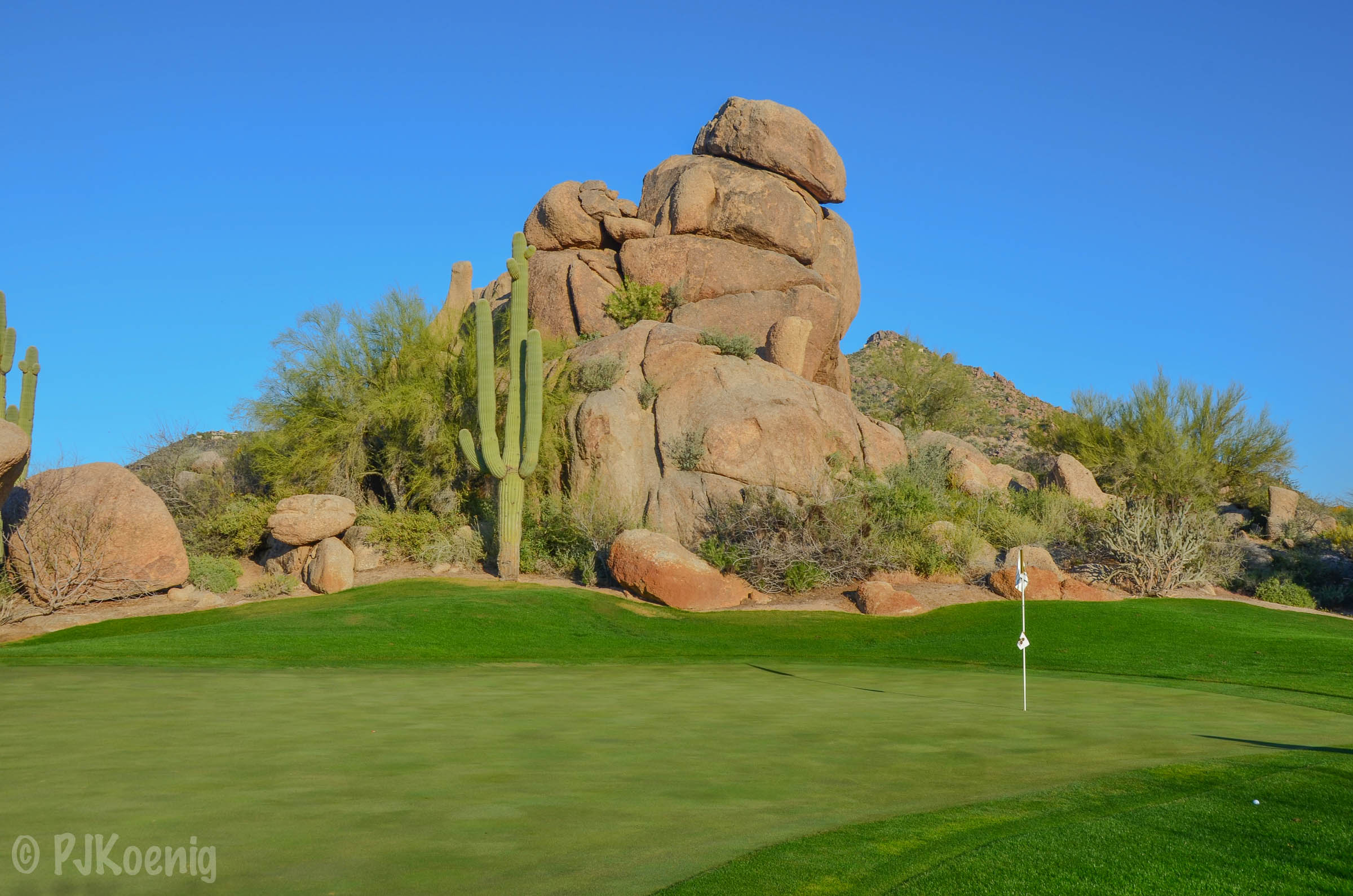 The 1st hole on The Boulders South Course.