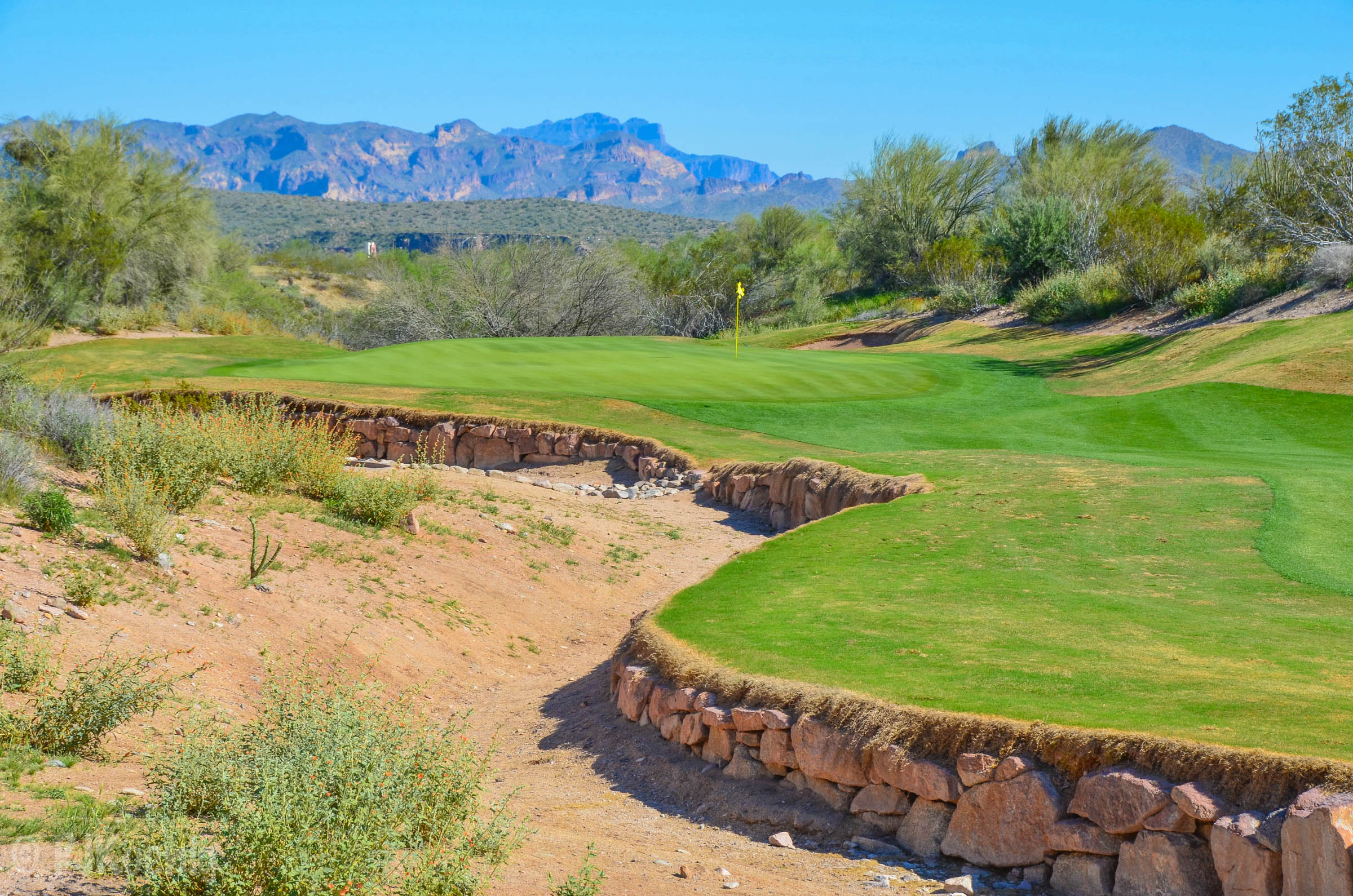 The 8th hole on the Cholla Course at We-Ko-Pa