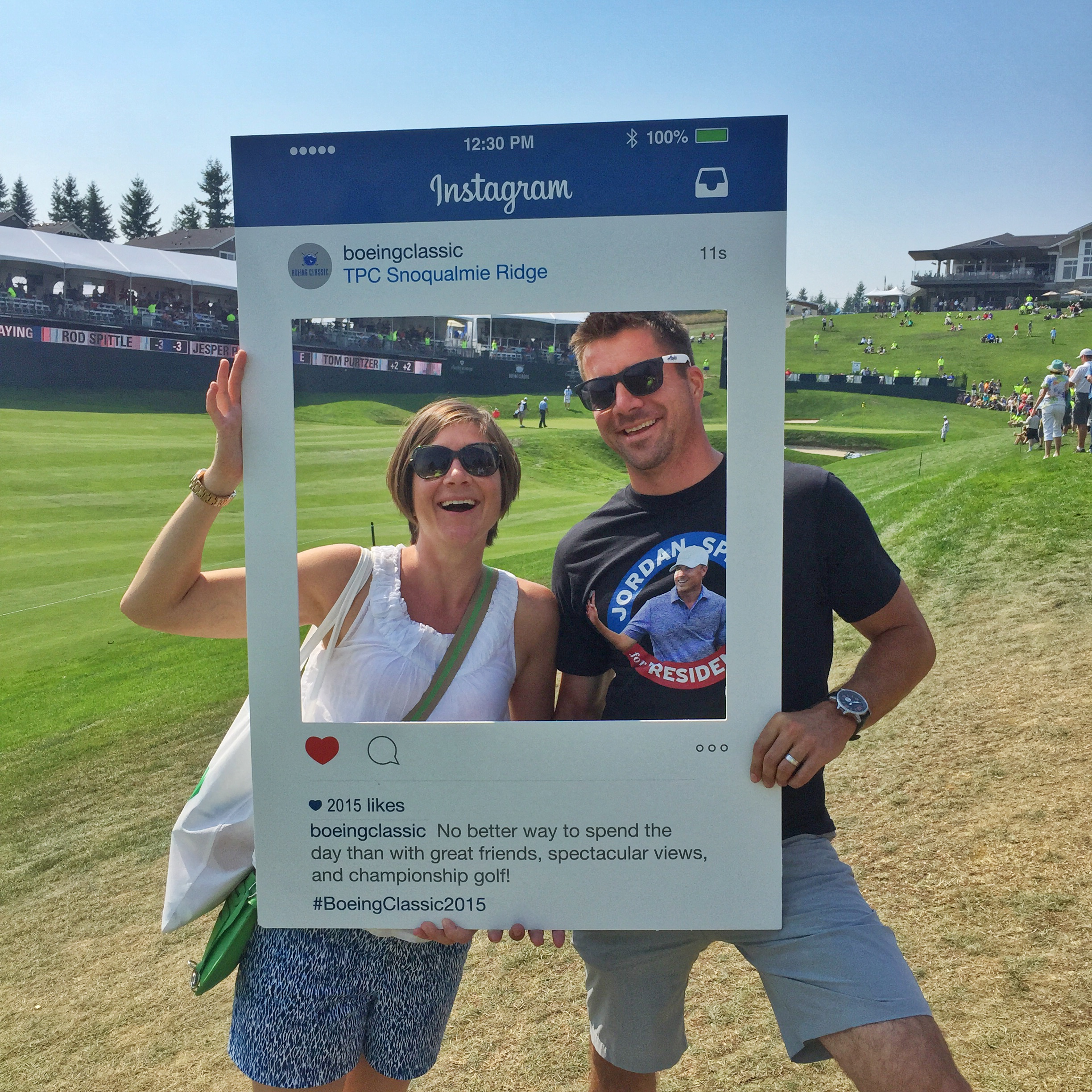 An on course Instagram opportunity on the 18th hole