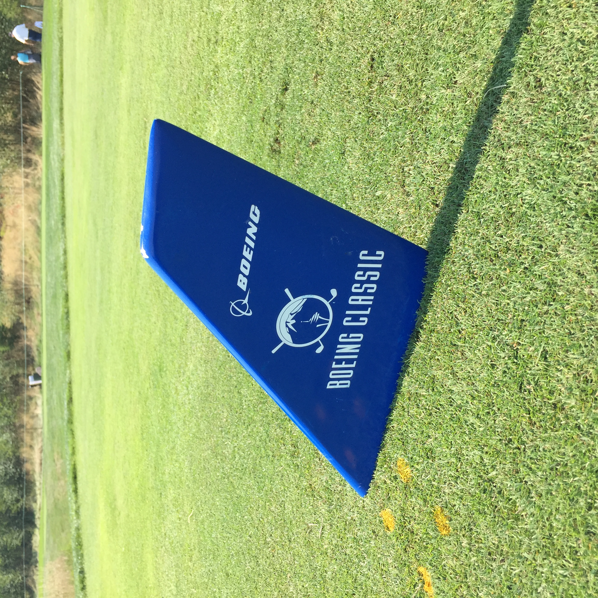 The tee markers for the Boeing Classic are classic.