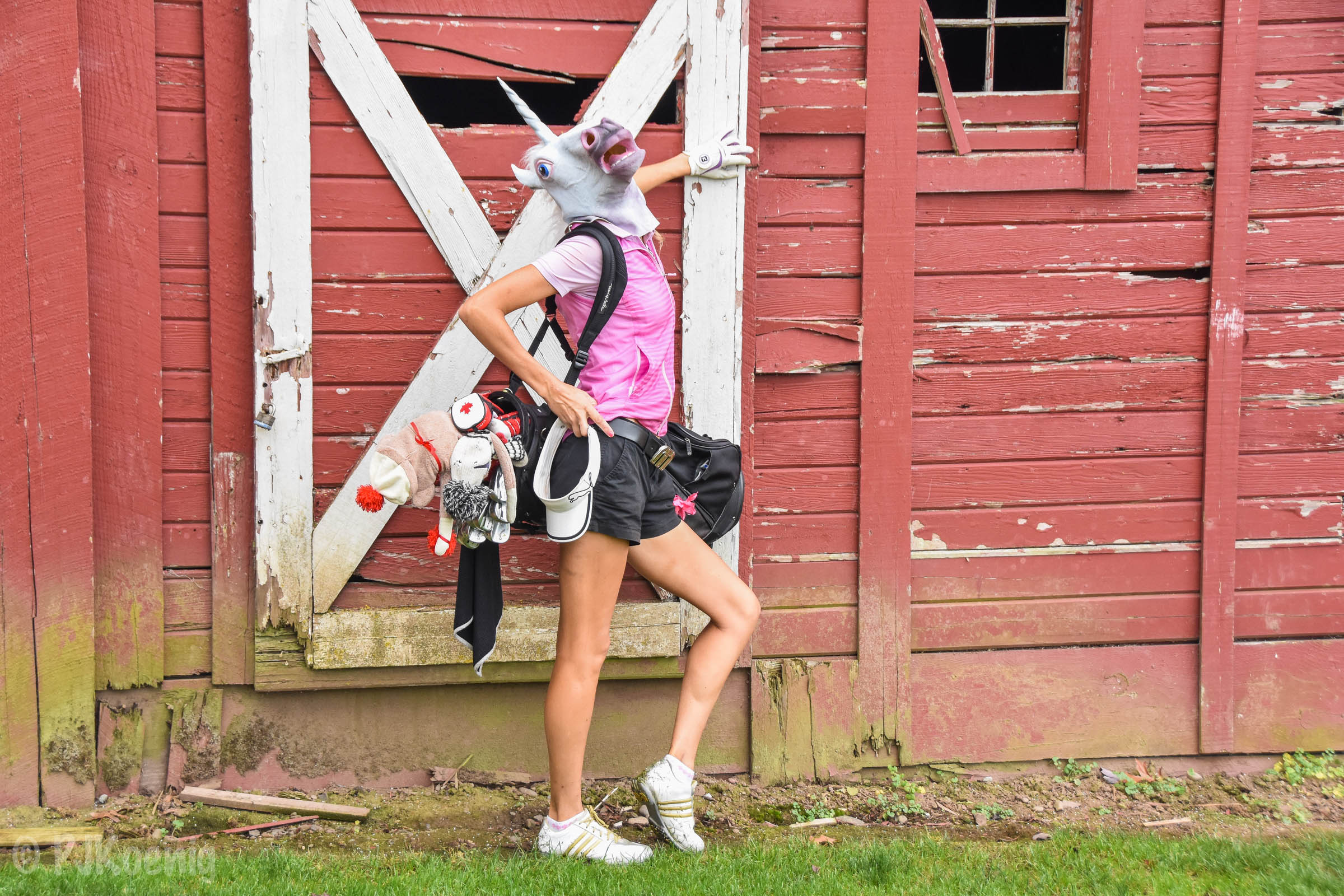 Next up for Golf Unicorn... barn modeling.  Golf Unicorns love to barn model.