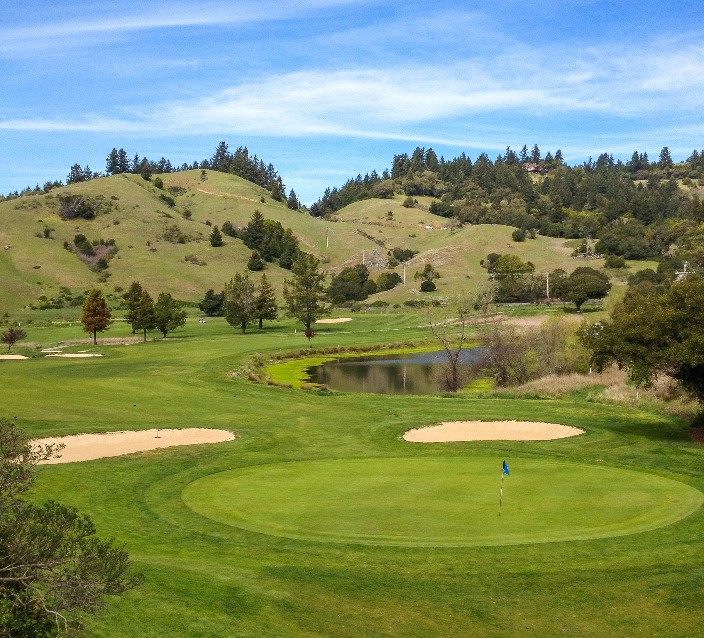 The finishing 18th at San Geronimo Golf Club