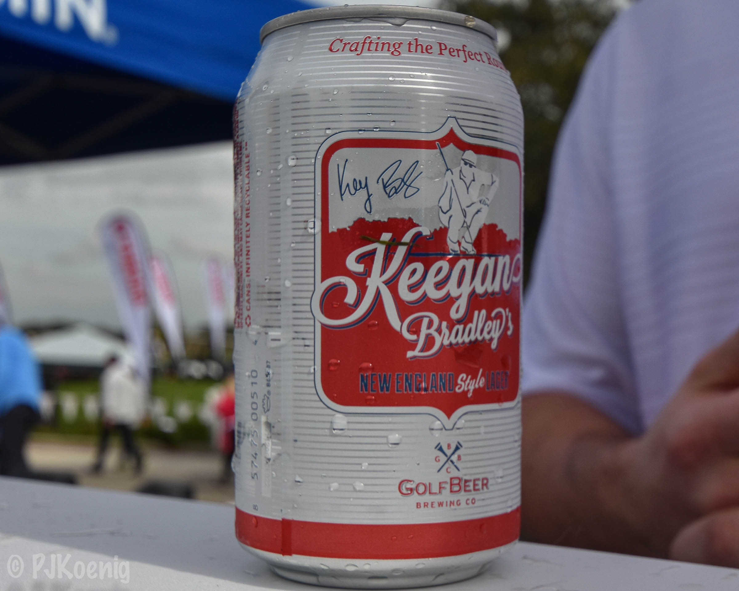 Keegan Bradley has his own beer now. Finally.