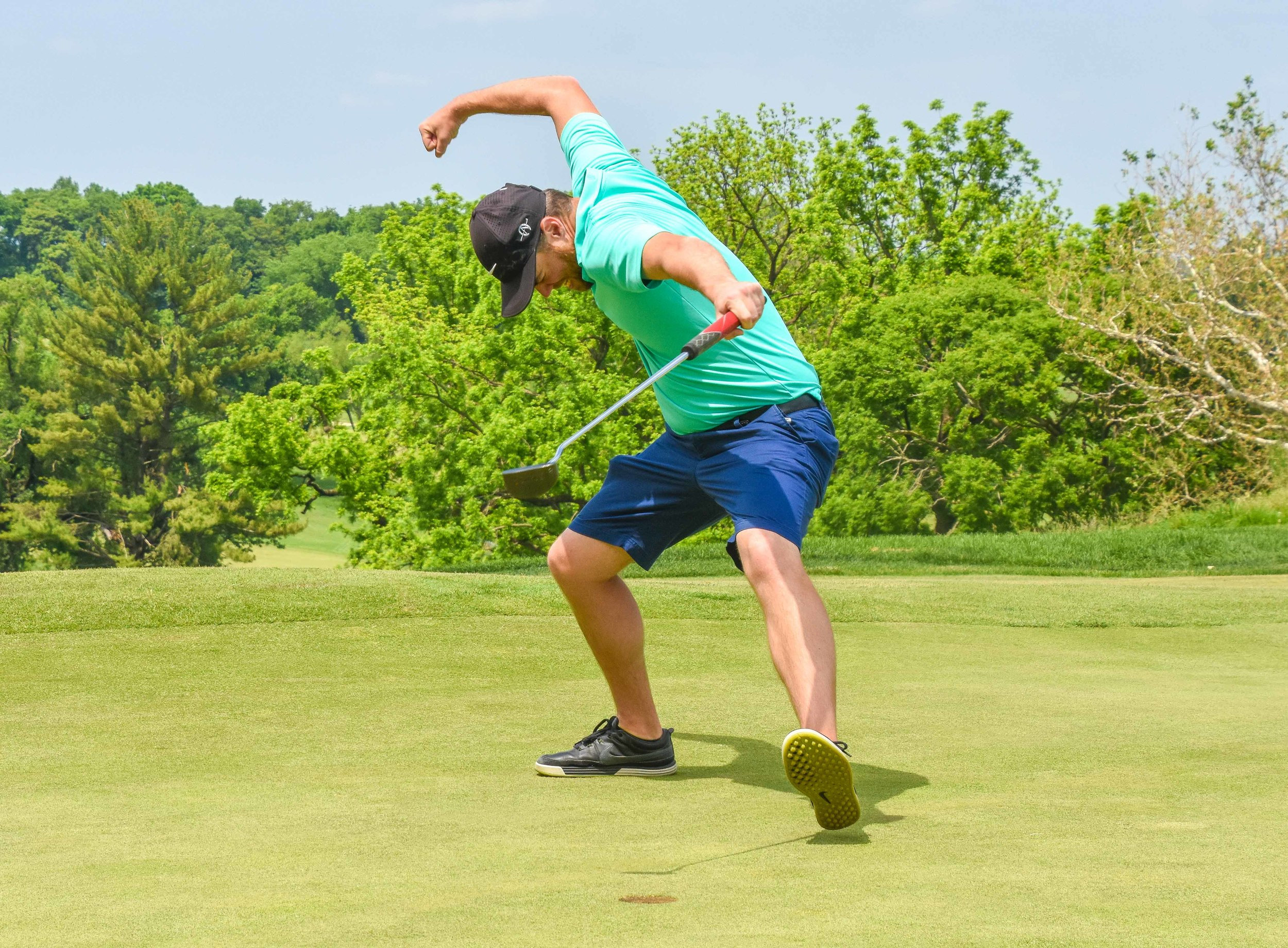 Move over Tiger Woods' fist pump.