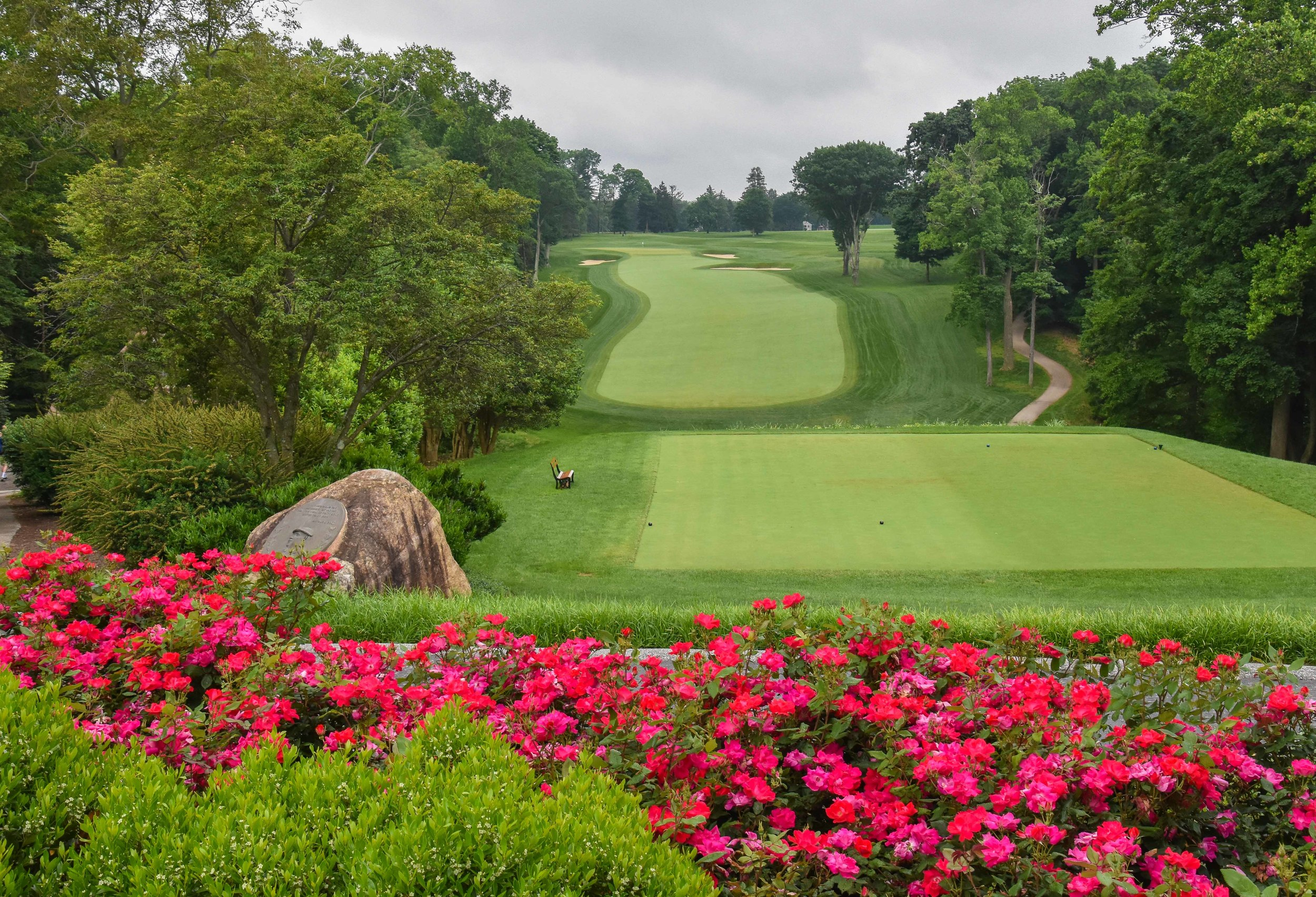 The opening hole at Aronimink inspires excitement. I couldn't get to the 1st tee fast enough.