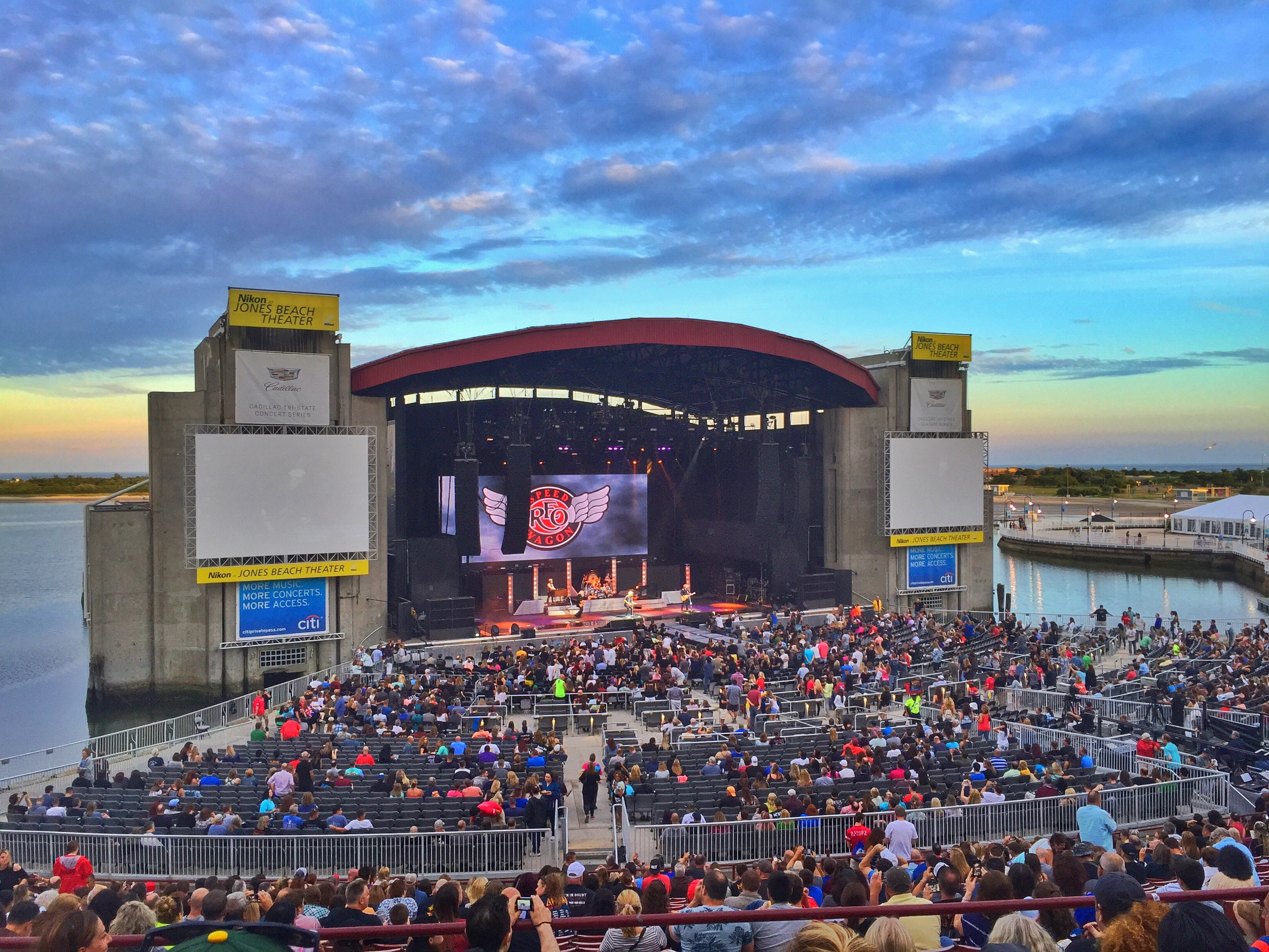 Jones Beach is a great venue to catch a summer time show.