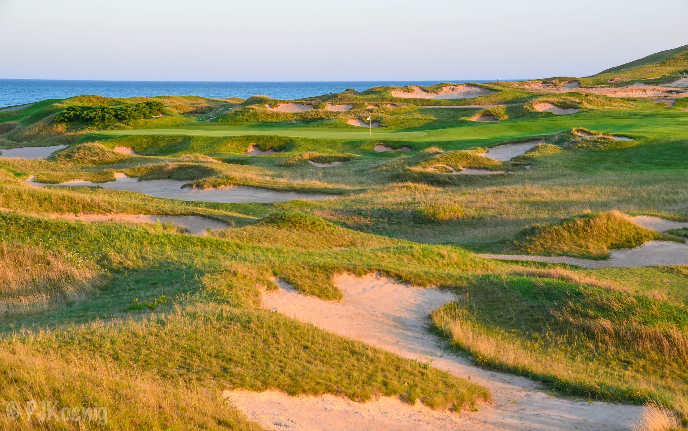 The 1st hole at Whistling Straits' Straits Course