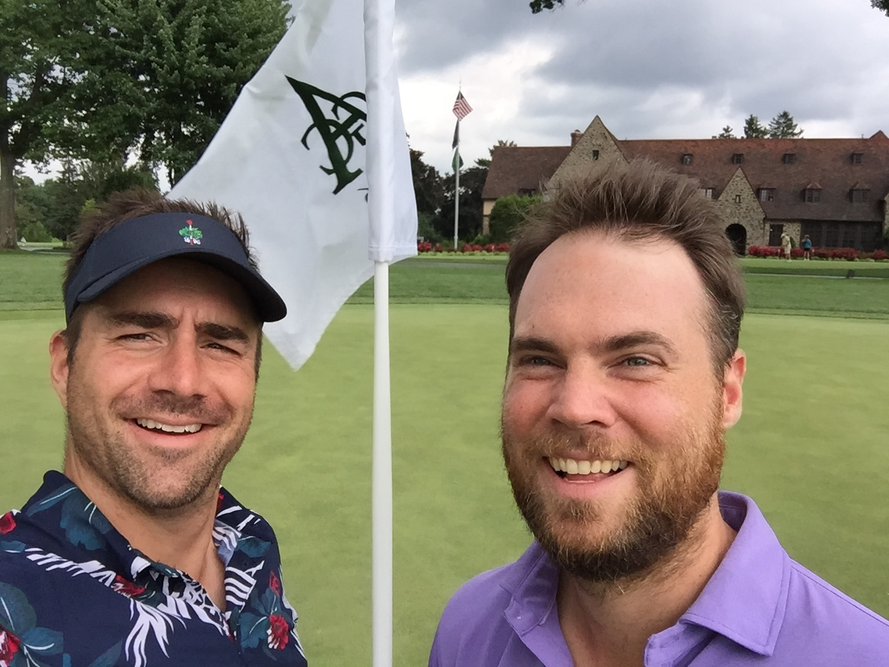 "Sean Ogle and I finish up an epic golf trip at Aronomink in PA.  Sean has even declared the Maide golf pants to be the ""Best in the world.""  Check out his review  here .."