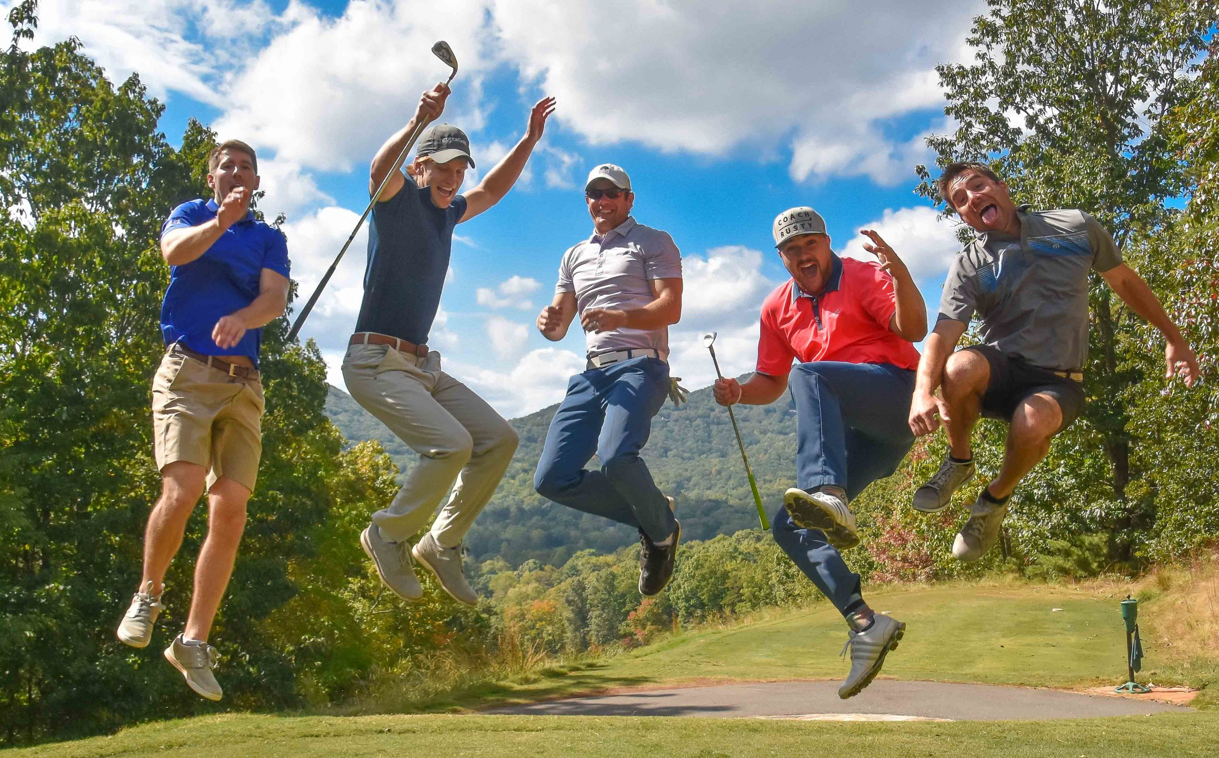 The gottaGolf boys are excited about the tee shot on the 9th hole. Hats off to  Karin Hart  for capturing the magic. A bigger hats off to Clint and the  gottaGolf  team for hosting a fantastic outing.