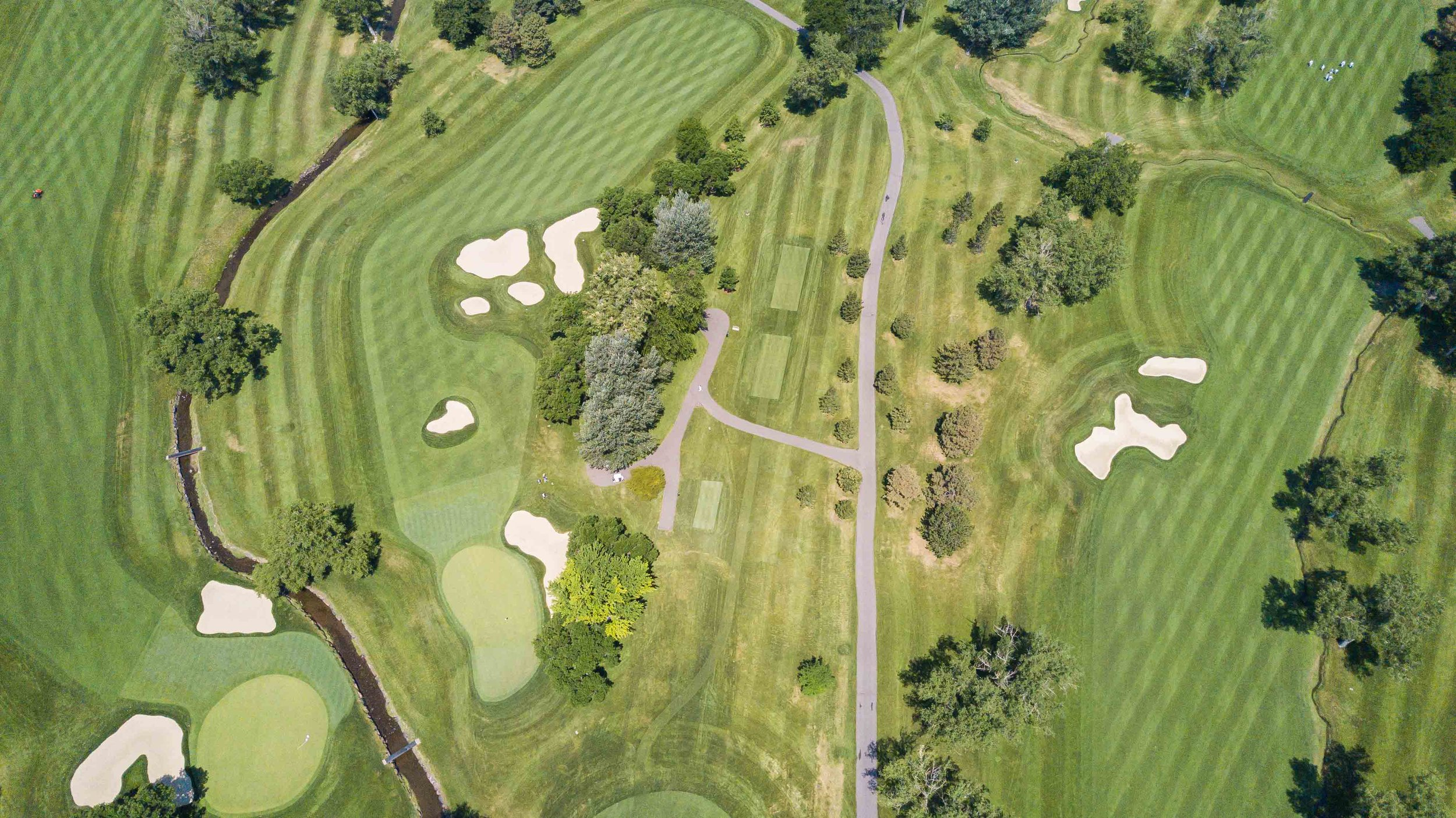 A look down at Cherry Hills