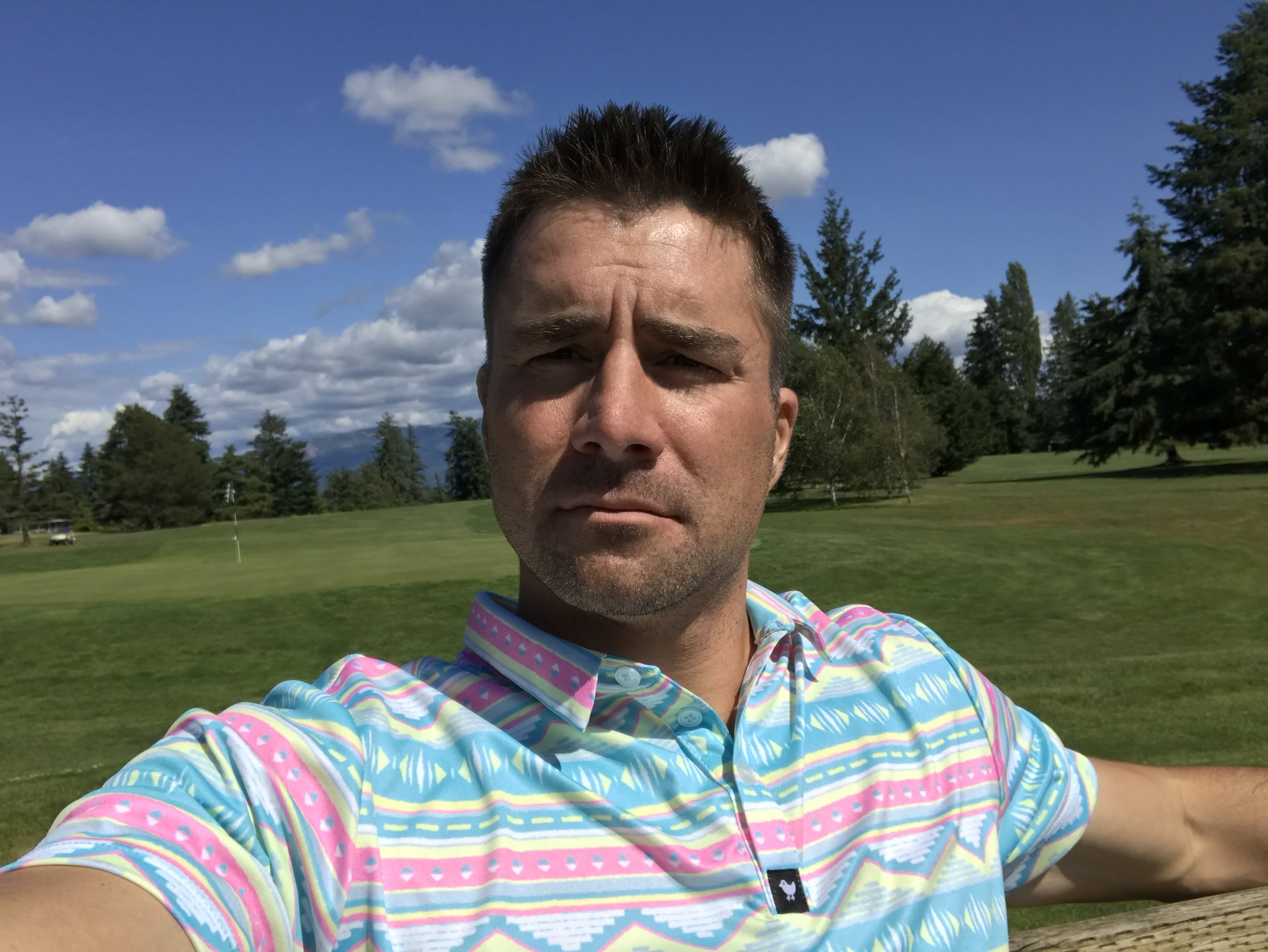 Here I am wearing the Salty Savage.  When was the last time you received 4 compliments on your golf polo in one round?