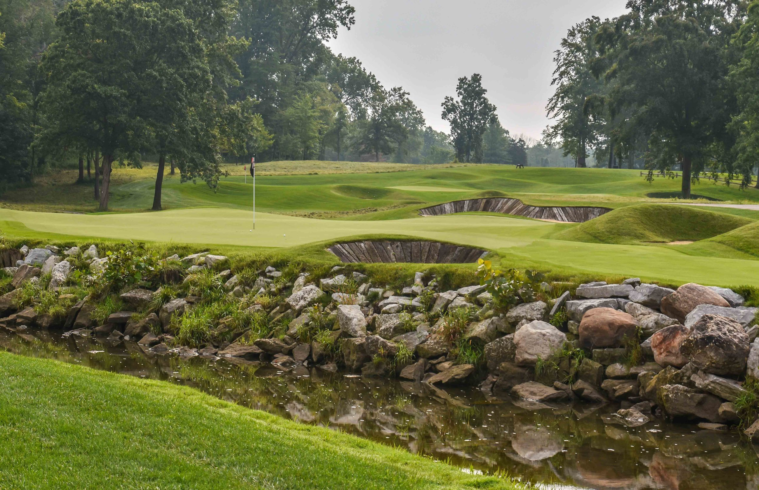 The 5th hole is one of the more unique green complexes.